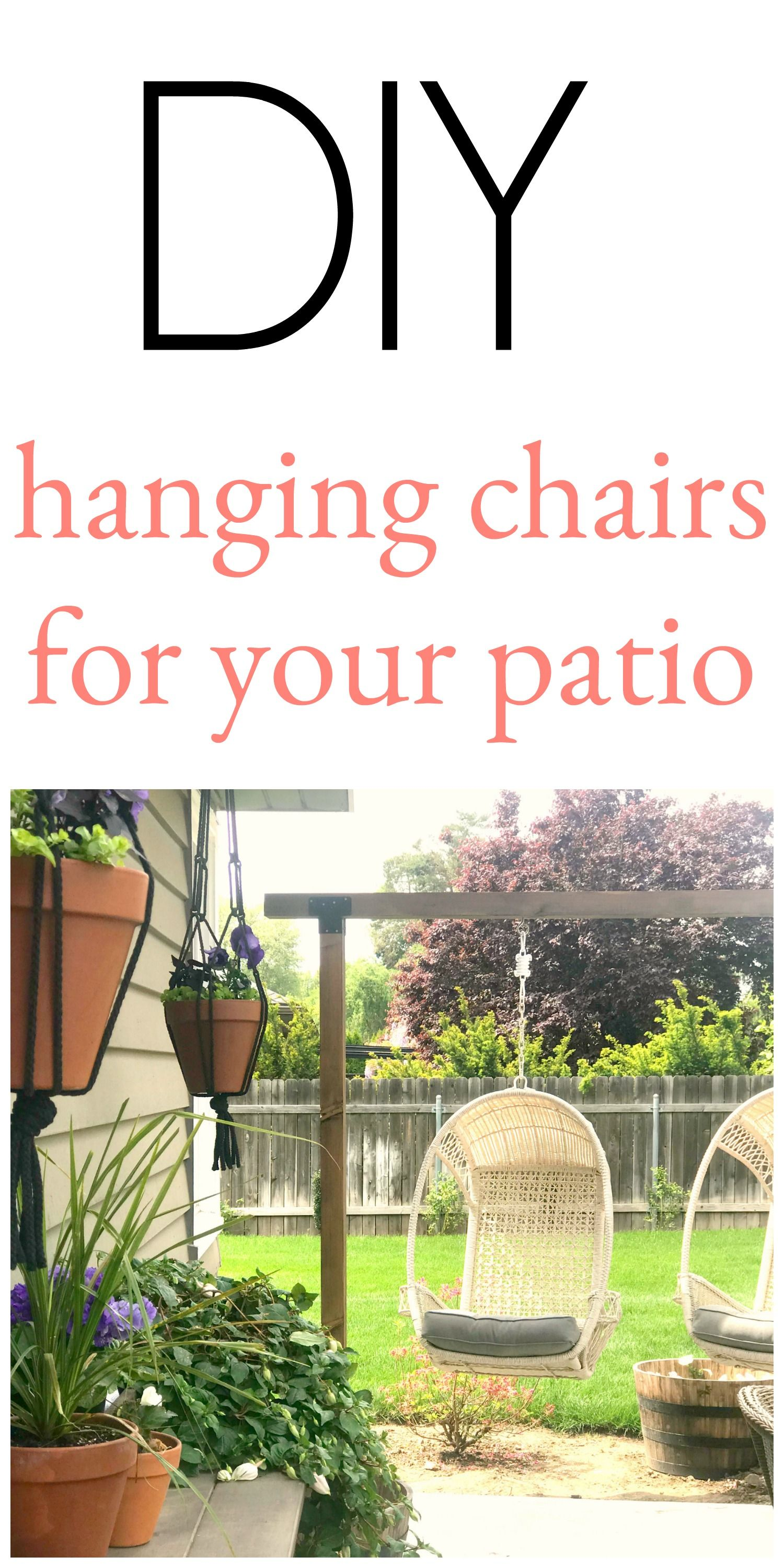 Outdoor hanging chairs on the blog pinterest diy diy chair