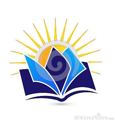 Book And Sun Educational Logo Design With Images Education