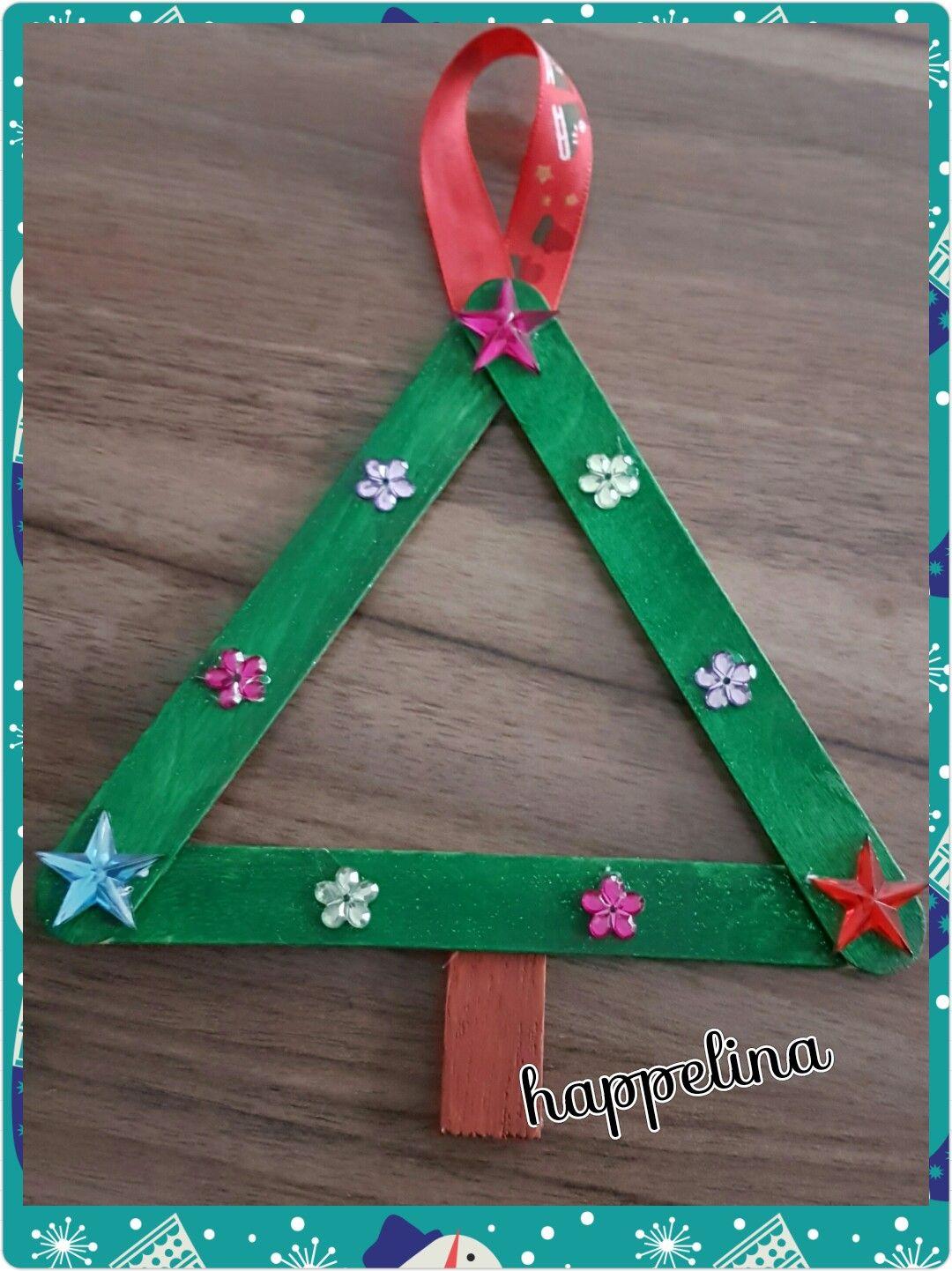 Alberello Fatto Con Stecchette Di Legno Abbassalingua Natale