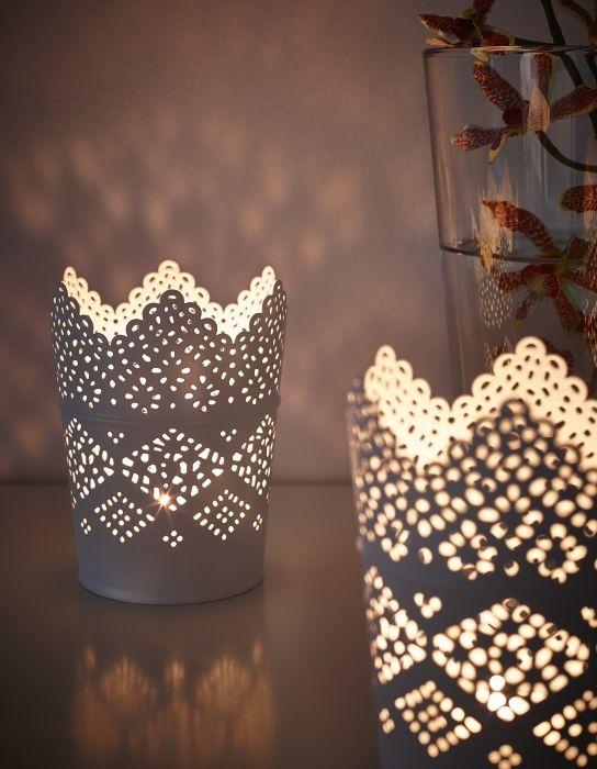 Skurar candle holder white weddings ikea candles ikea candle holder ikea wedding - Candele decorative ikea ...