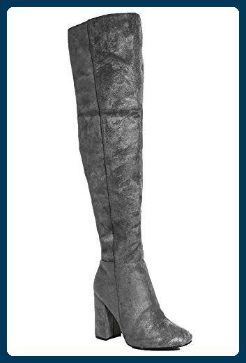 SheLikes Damen Stiefel & Stiefeletten, Schwarz - Schwarz - Größe: 37.5