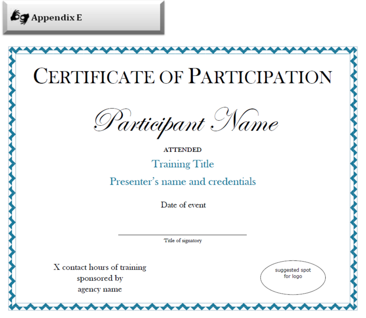 Certificate Of Participation Sample Free Download In Certificate Of Part Certificate Of Participation Template Certificate Templates Free Certificate Templates