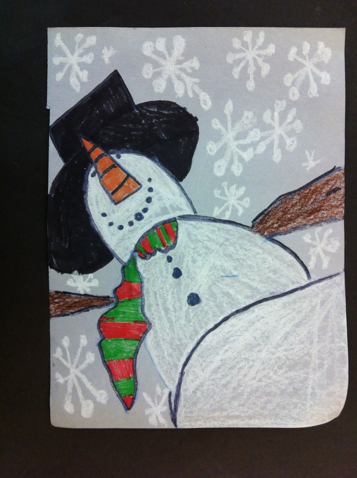 Art Massac Perspective Snowman 4th Grade