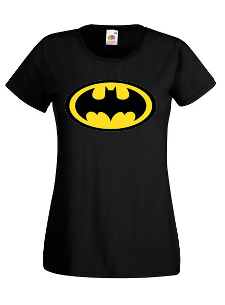 36debe8fc6 BATMAN MINTÁS NŐI PÓLÓ-FEKETE | Női pólók | Mens tops, T shirt és Polo