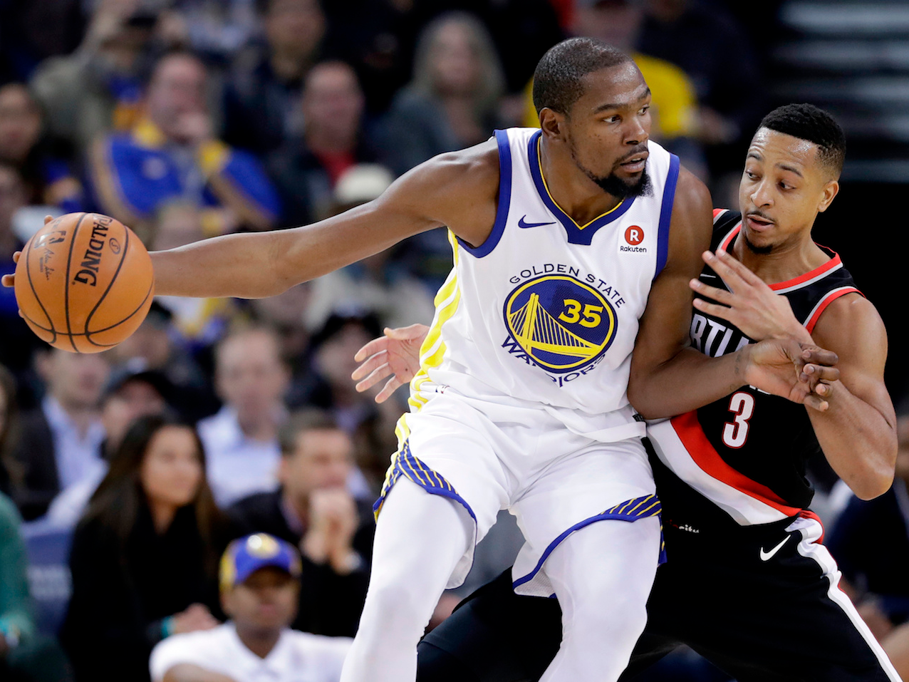 Kevin Durant Called C J Mccollum A Snake Kevin Durant Nba Kevin Durant Nba Champions