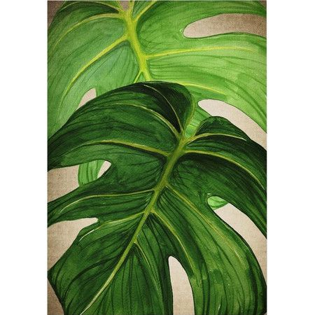 Bring colour to your walls with this eye-catching wall art, featuring a leafy design in a lush green palette. Product: Wall art p...