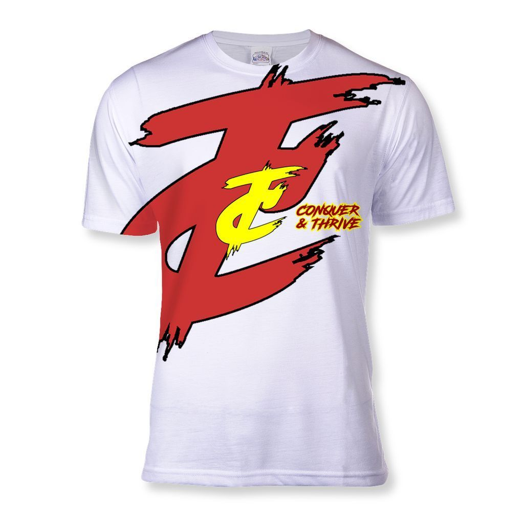 Conquer Thrive Red Yellow Logo T-Shirts