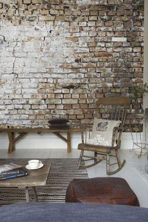 Stenen muur in de woonkamer stenen muur interieur for Interieur steen