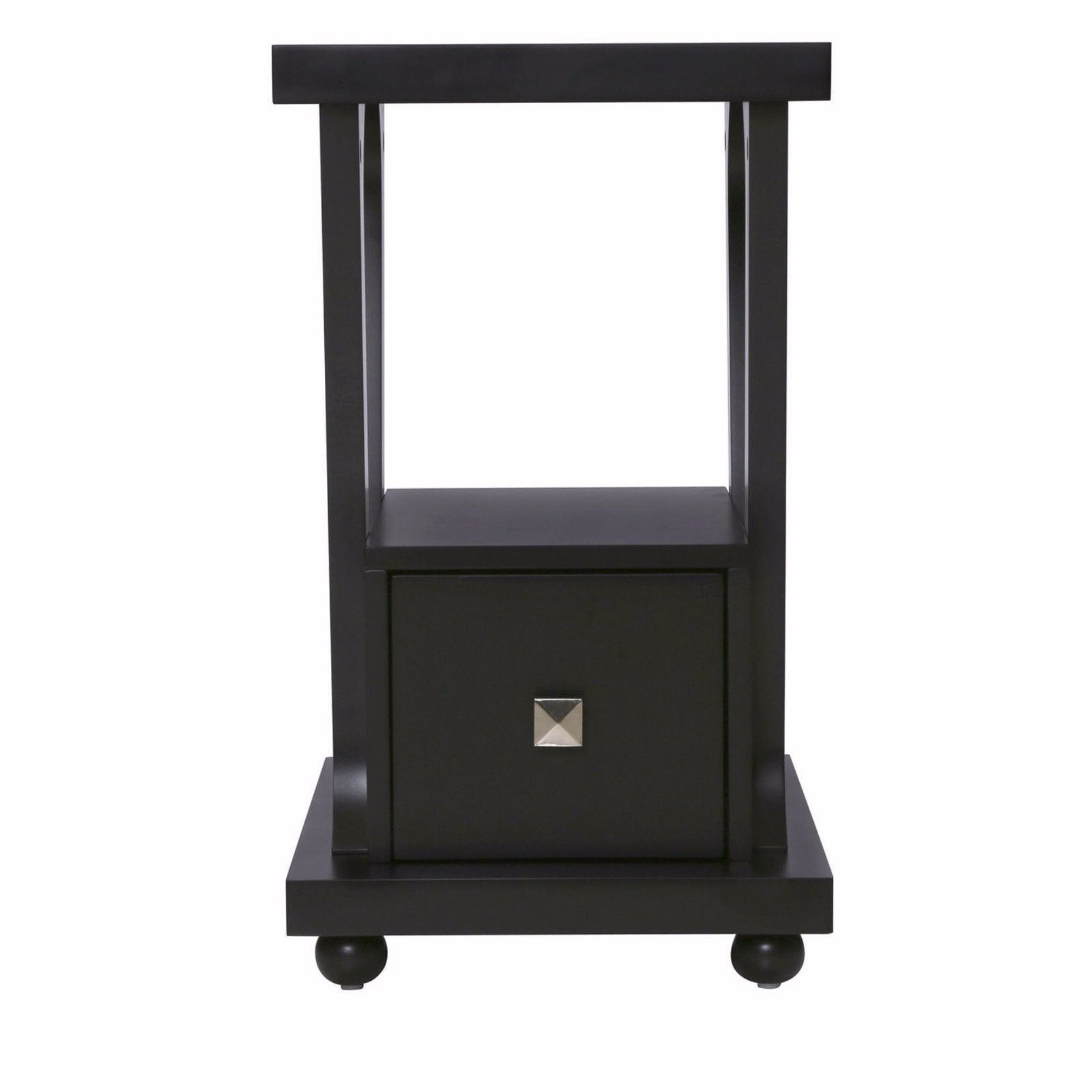 Best Small Modern End Table Side Nightstand Black Wood With 400 x 300