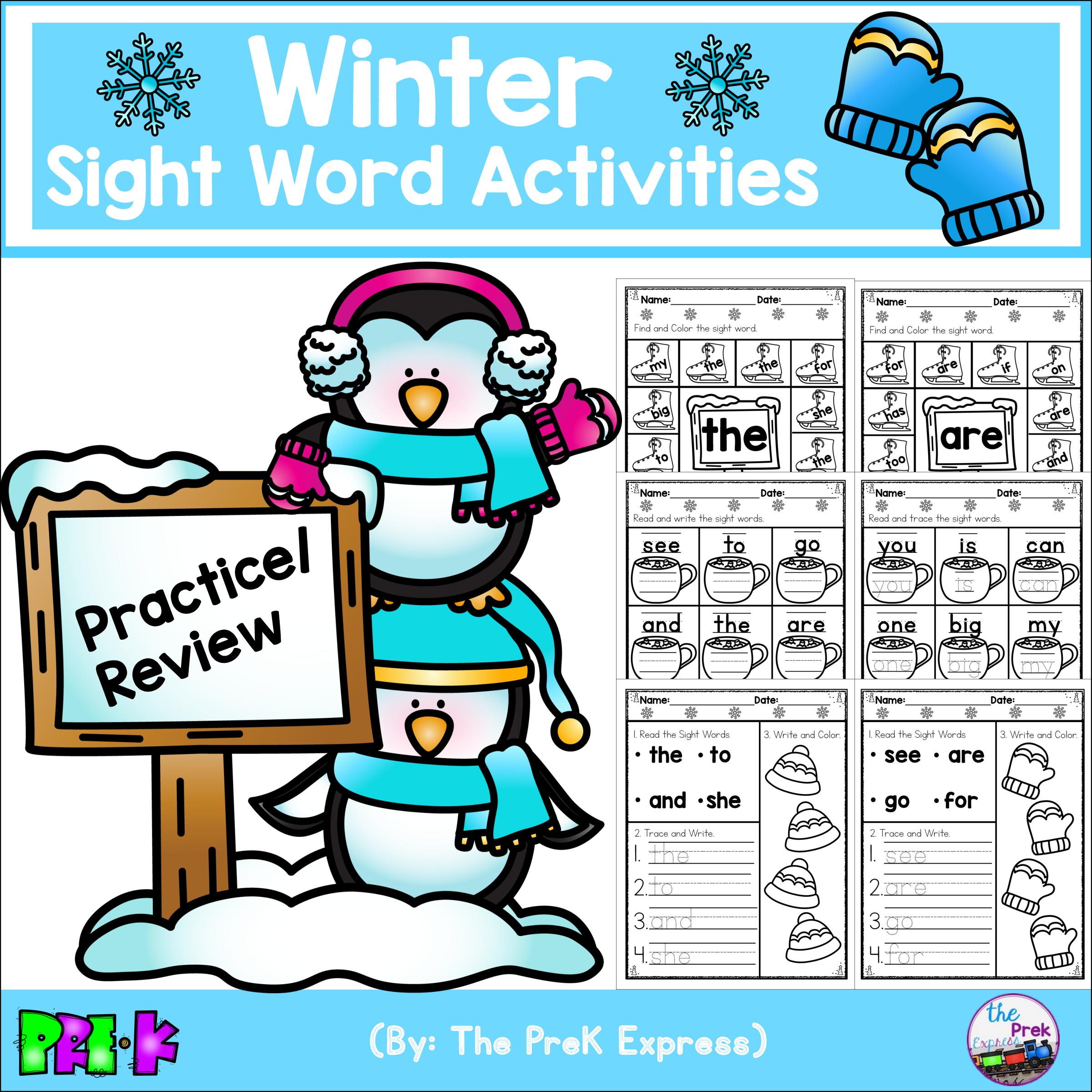 Winter Sight Word Activities