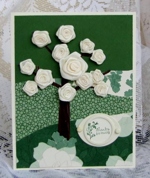 This looks like our Into the Woods set  Tree of Roses using Stampin Up Season of Friendship