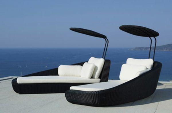 Le salon de jardin et le plaisir du choix   La chaise longue ...
