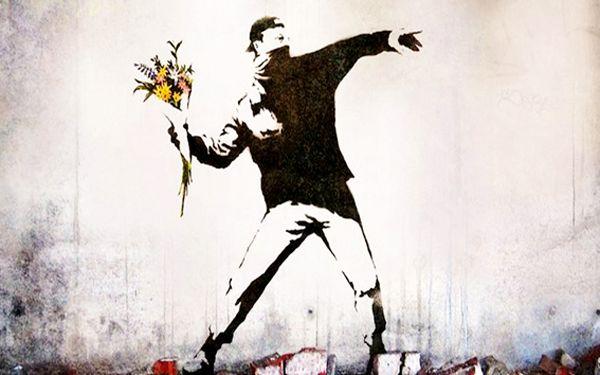 Banksy politique GIRL Wall Decal Vinyl autocollant Street Art Graffiti Mural Décor