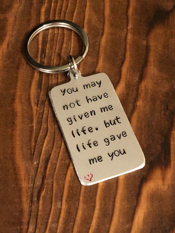 Fathers Day Gift Keychain Thank You for Being My Bonus Dad Keyring Gift for Father Step Dad Godfather Father in Law