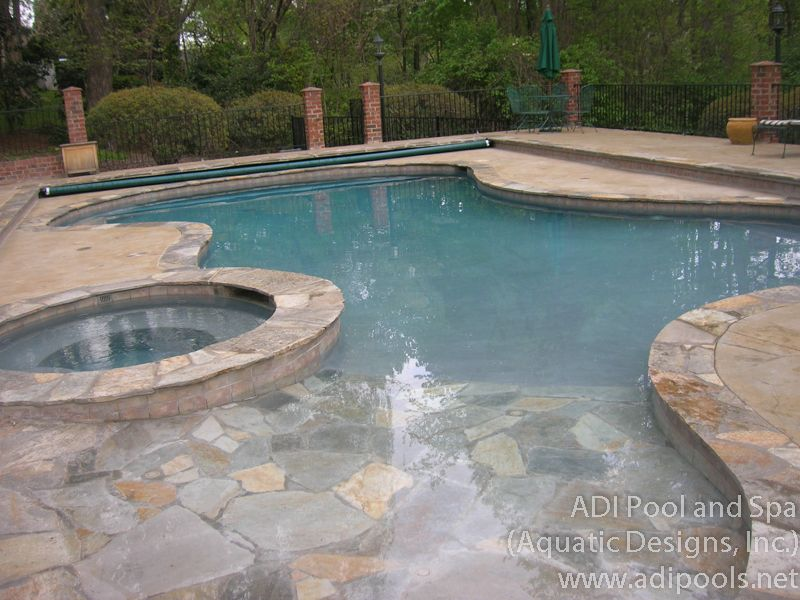 Beautiful Beach Entry Swimming Pool Designs Contemporary