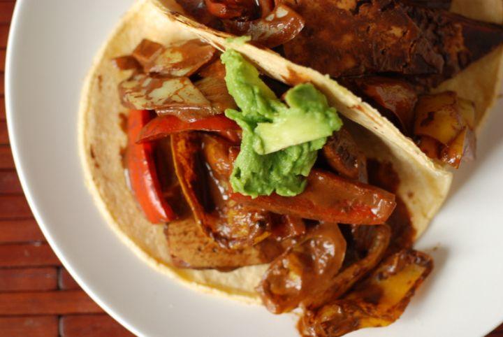 Cocoa Jerk Tofu Tacos - taste space