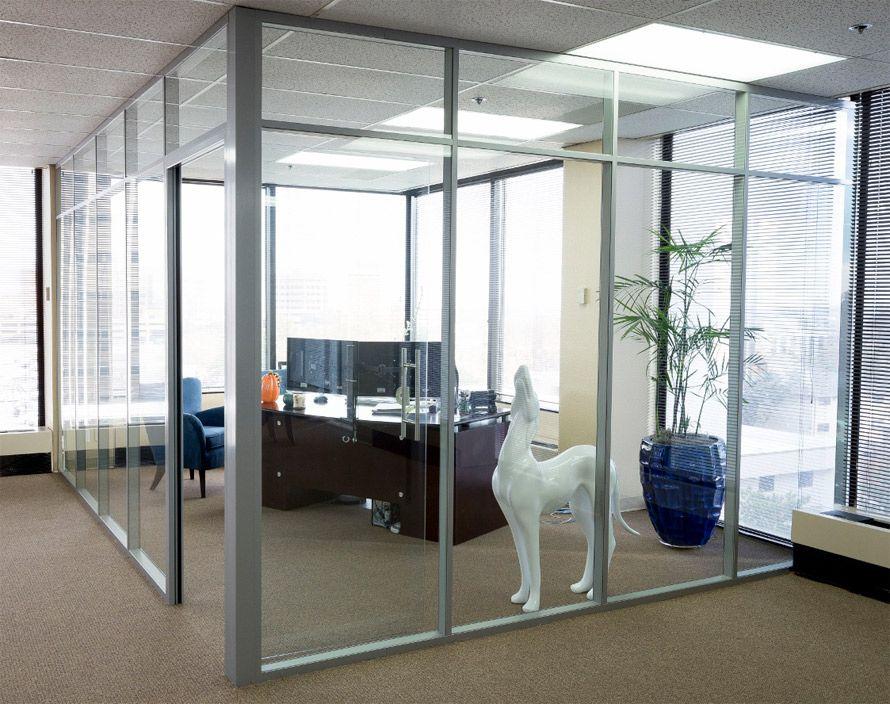 All Glass Wall Office Nxtwall View Demountable Glass Walls