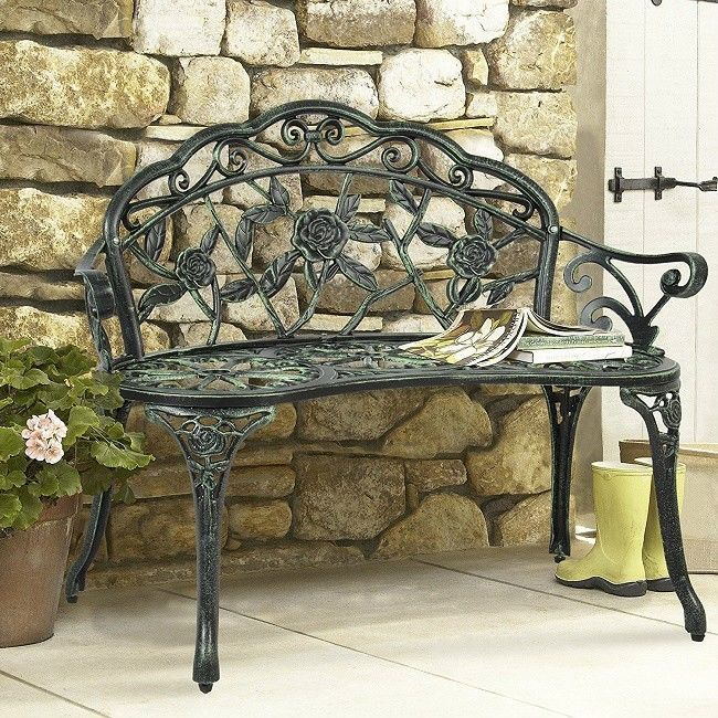 Prime Small Garden Bench Patio Furniture Front Porch Heavy Duty Pabps2019 Chair Design Images Pabps2019Com