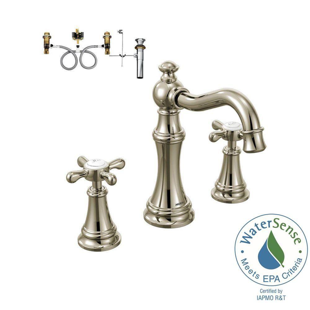 Moen Weymouth 8 In Widespread 2 Handle Bathroom Faucet Trim Kit