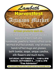Lambeth HarvestFest Artisan market Unique candles