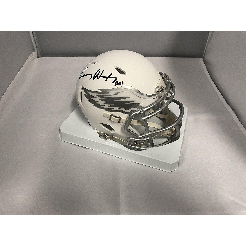 c19f2d38209 Carson Wentz Signed Autographed Philadelphia Eagles RARE ICE SPEED Mini  Helmet COA  SportsCollectibles