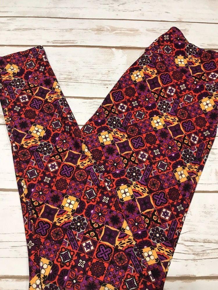 90062253138ce5 LuLaRoe One Size OS Leggings NWT Purple Orange Cream Yellow & Black  #fashion #clothing #shoes #accessories #womensclothing #leggings (ebay link)