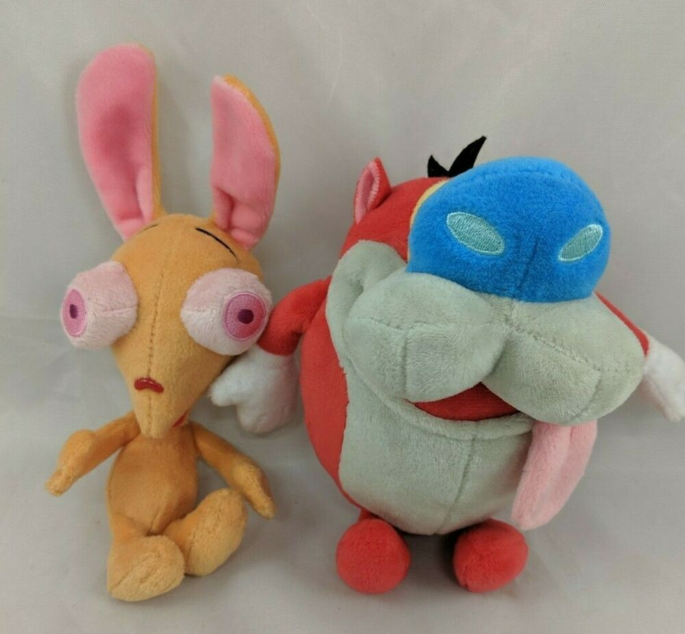 "Details about Ren & Stimpy Plush 6"" Lot Stuffed Animal"