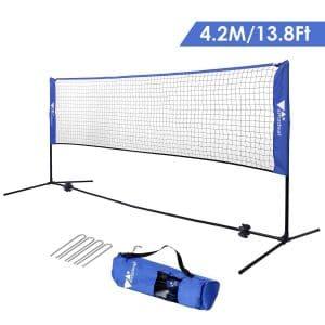 Amzdeal Badminton Set Badminton Set Volleyball Net Height Badminton