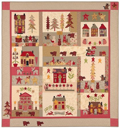 A Woodland Christmas Block Of The Month Bom Quilts Pinterest
