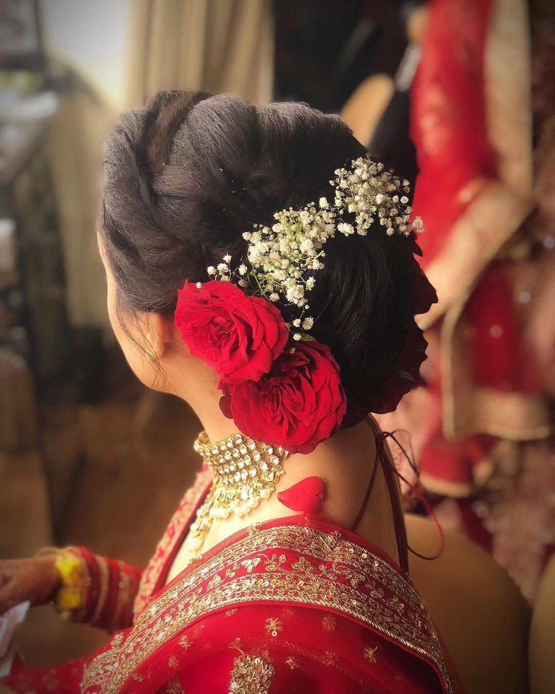 Pin By Vaishnavi Reddy On Hair Indian Wedding Hairstyles Bridal Hairstyle Indian Wedding Bridal Hair Buns