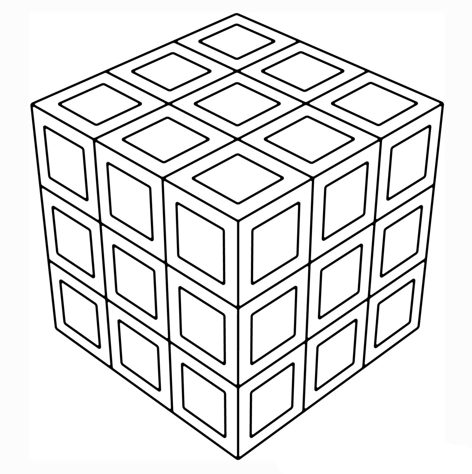 Cubatrongeometrycoloringpagesg dibujos pinterest