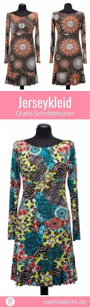 Jerseykleid mit Volant-Saum | Pinterest | Für damen, Kostenlos und ...