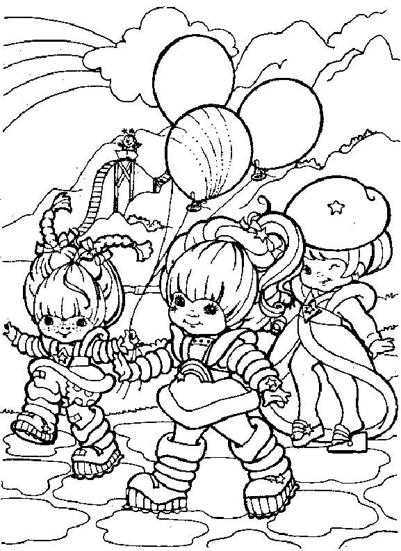 Rainbow Brite With Friends Coloring Pages Coloring Books