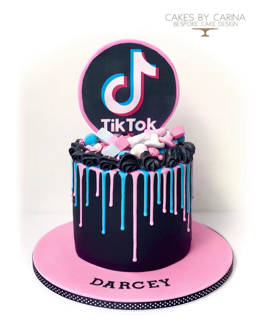 Cakes By Carina On Instagram A Surprise Tik Tok Cake For Our Little Social Media Fiend Darc Cool Birthday Cakes Unique Birthday Cakes Cake Designs Birthday