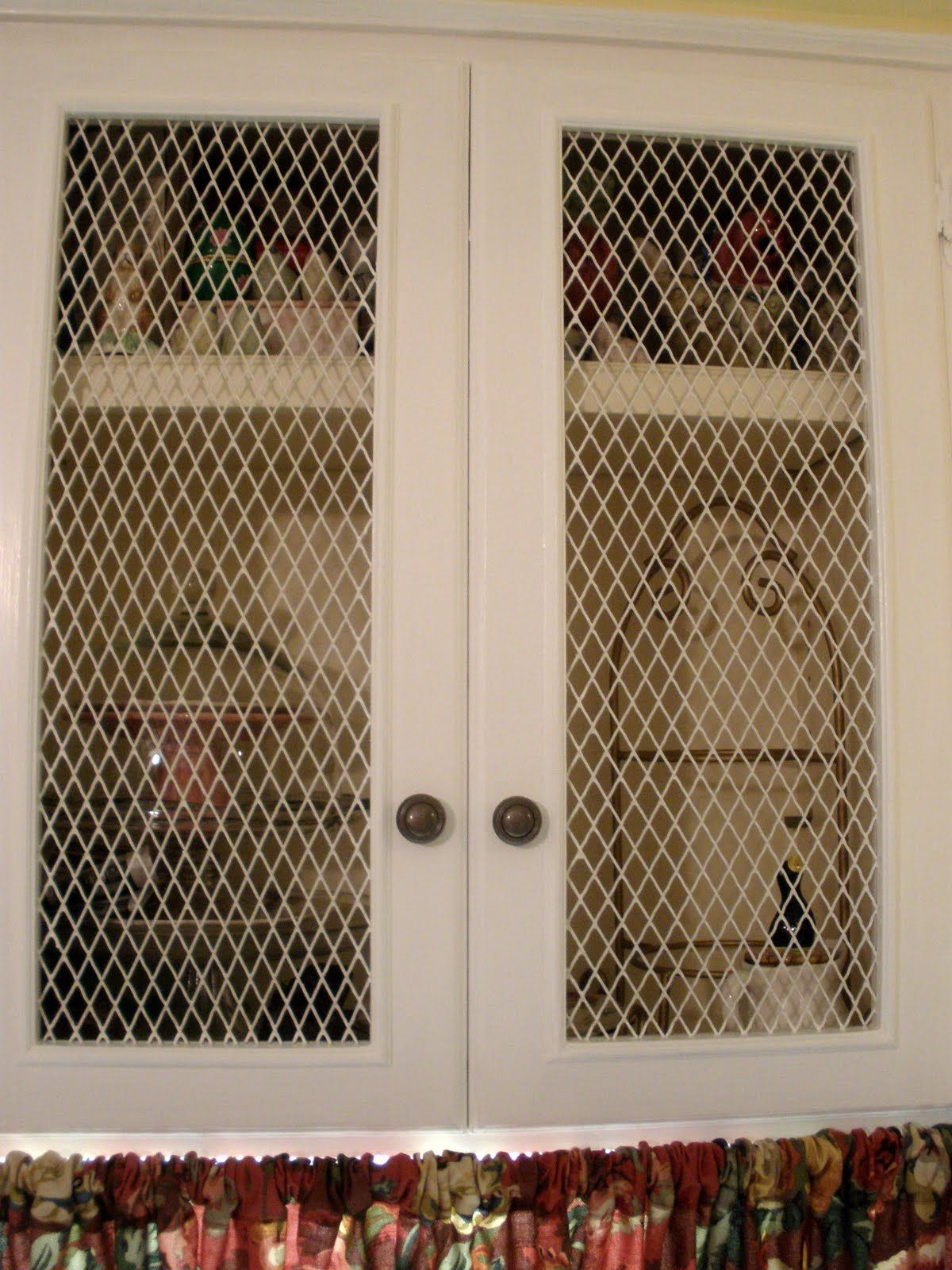The Doors On Kitchen Cabinets with Chicken Wire | Note Songs: Still ...