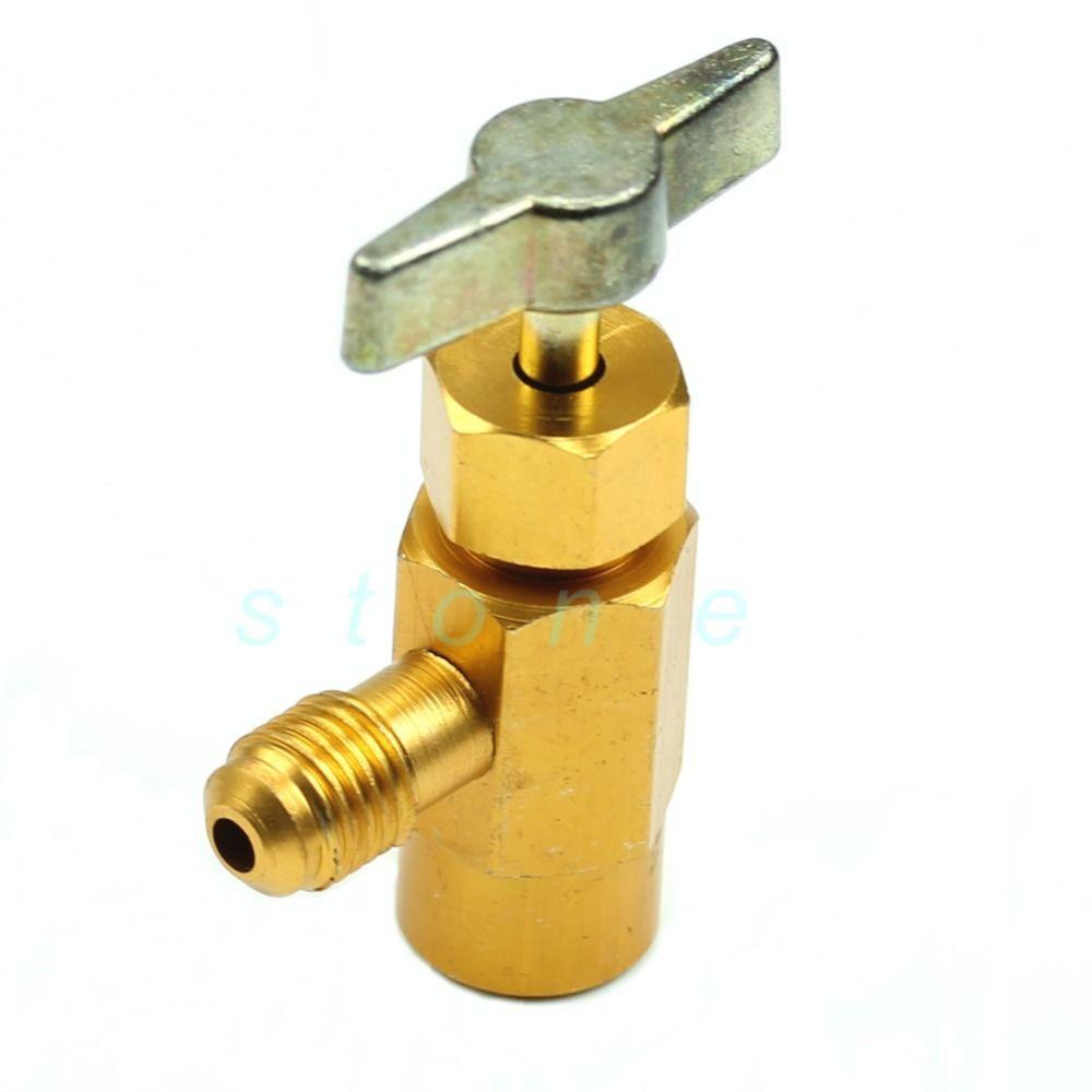 "R-134a R-134 AC Refrigerant Brass CAN TAP Dispensing Valve Tool 1//2/"" ACME thread"
