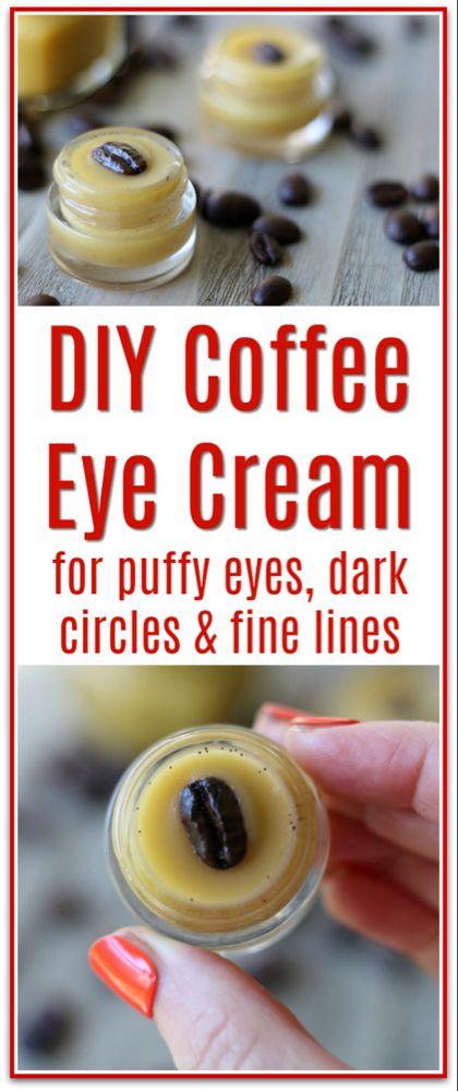 DIY Coffee Eye Cream for Puffy Eyes, Dark Circles & Fine Lines