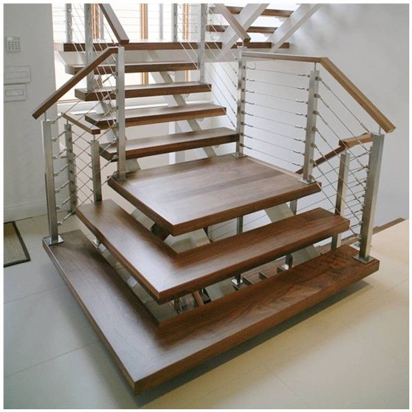 Best Open Riser Stair Cable Railing System Stair Cable 400 x 300
