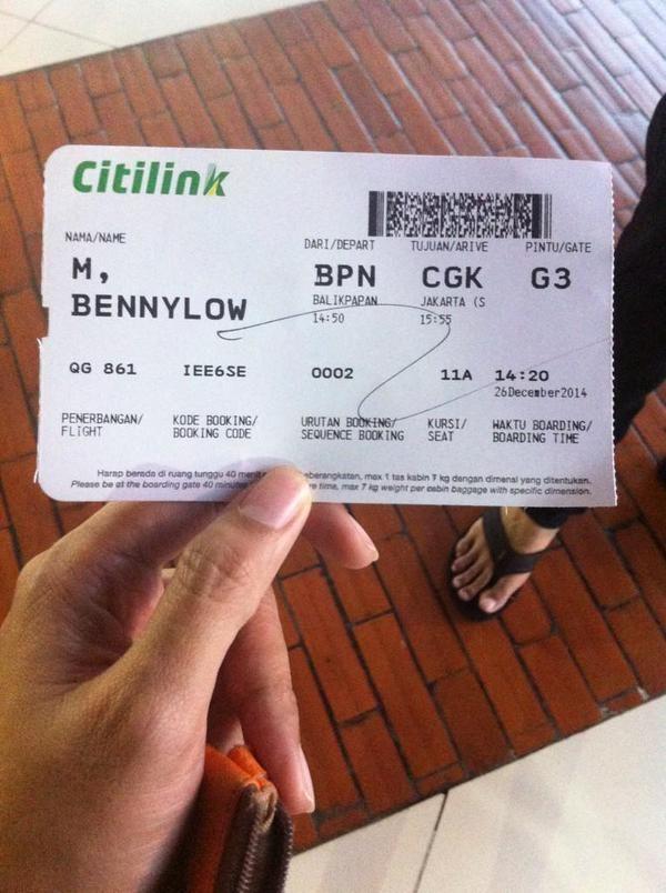 Citilink Indonesia Boarding Pass Citilinkdekatdihati On Twitter