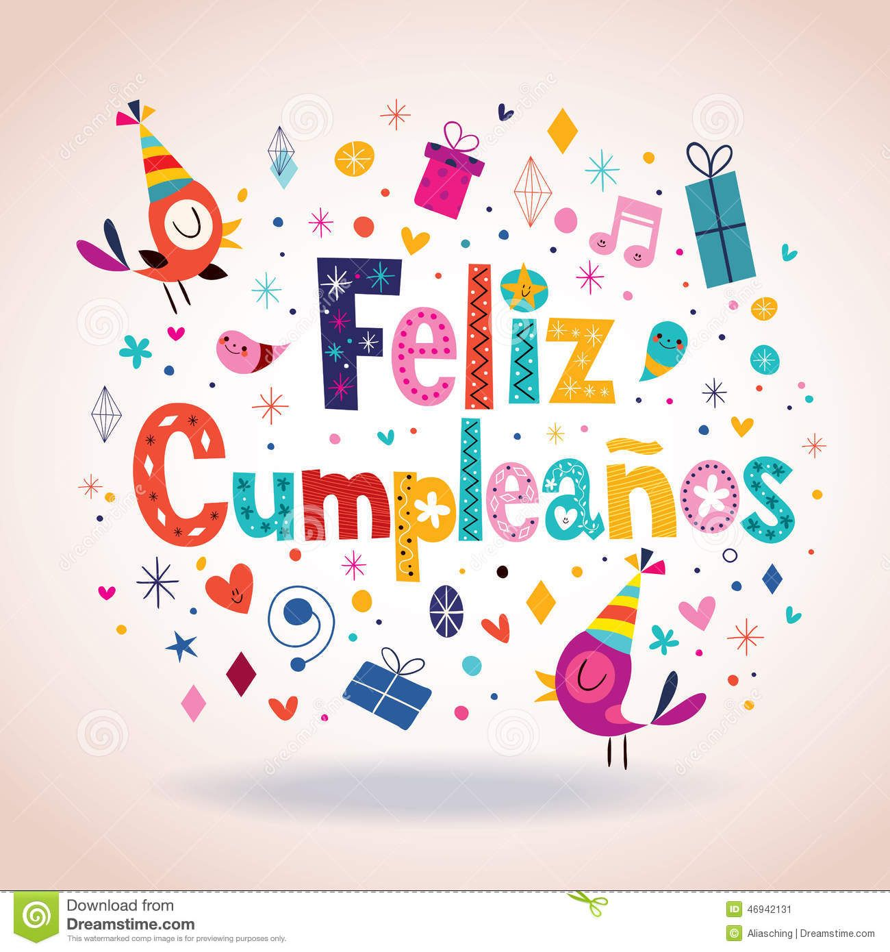 Feliz Cumpleanos Happy Birthday In Spanish Card Download From – Birthday Cards in Spanish
