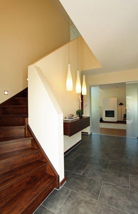 Wohnideen Treppenaufgang fertighaus wohnideen diele flur galerie stadtvilla treppe