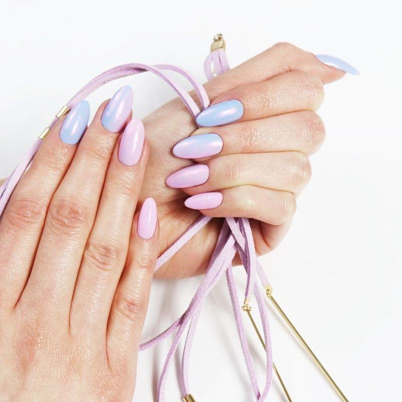 Perłowa Stylizacja Paznokci Hybrydowych Ombre Neonail Pearl