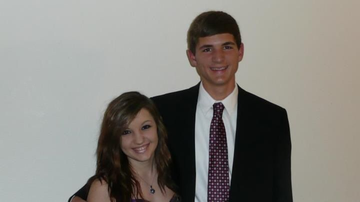 Awww, brother and sister. Hurry up & take the picture before the claws come out!!! Homecoming 2012