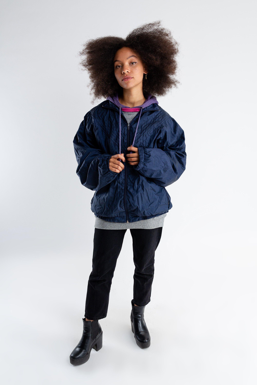 Vintage Oversized Dark Blue Windbreaker 80s Activewear Etsy Bomber Jacket Women 80s Activewear Windbreaker [ 3000 x 2000 Pixel ]