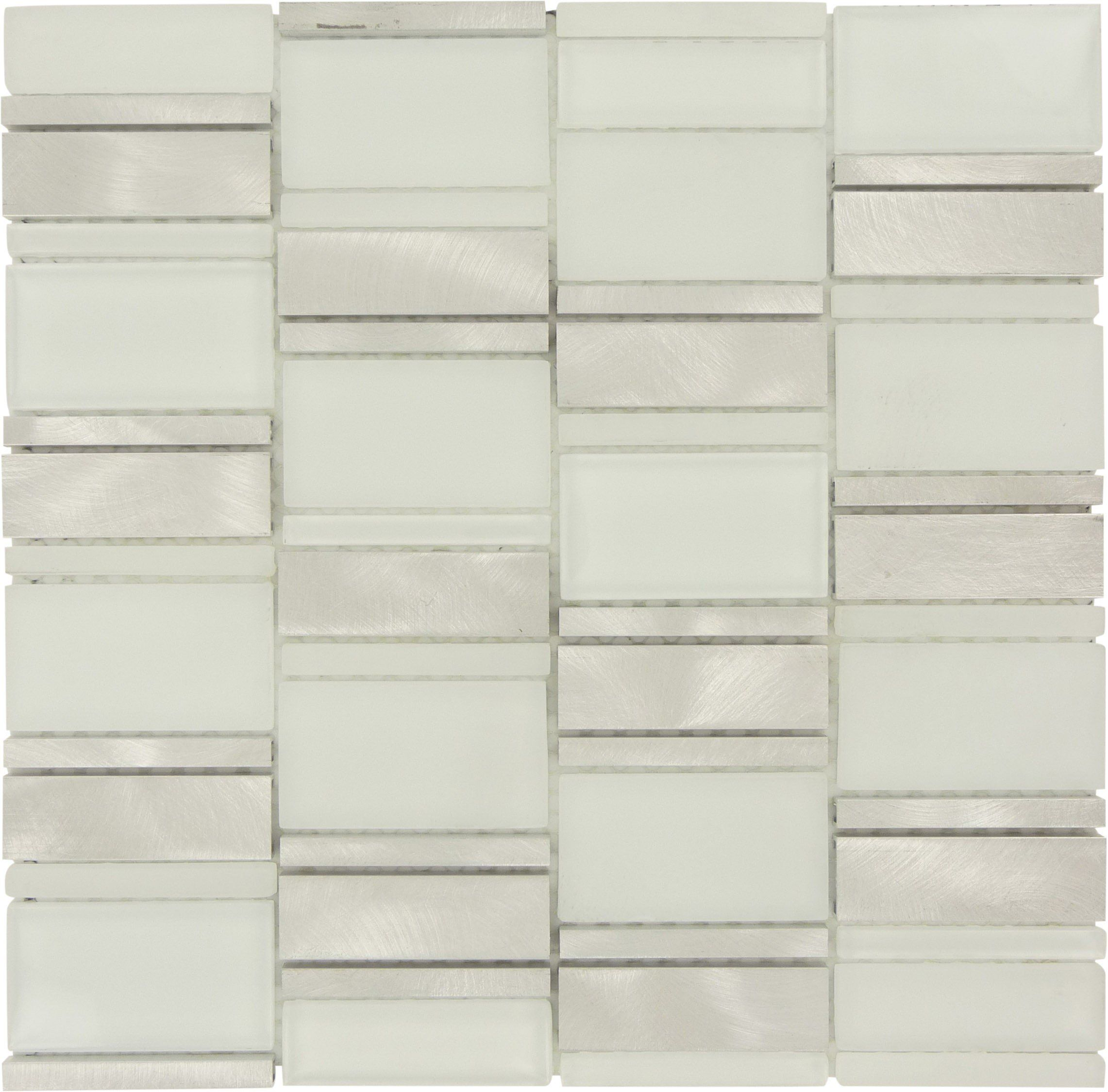 Unique Shapes Silver Glass Metal Unique Shapes Tile Frosted Brushed Ft Wf 102 Tile Installation Metal Tile Metal