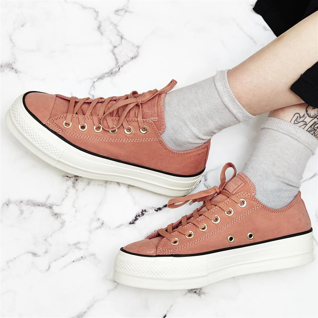 f21de31fb83  converse  exclusive All Star Low Platform Trainers in Pink Blush are now  only £38.00! 👀  converse  sale