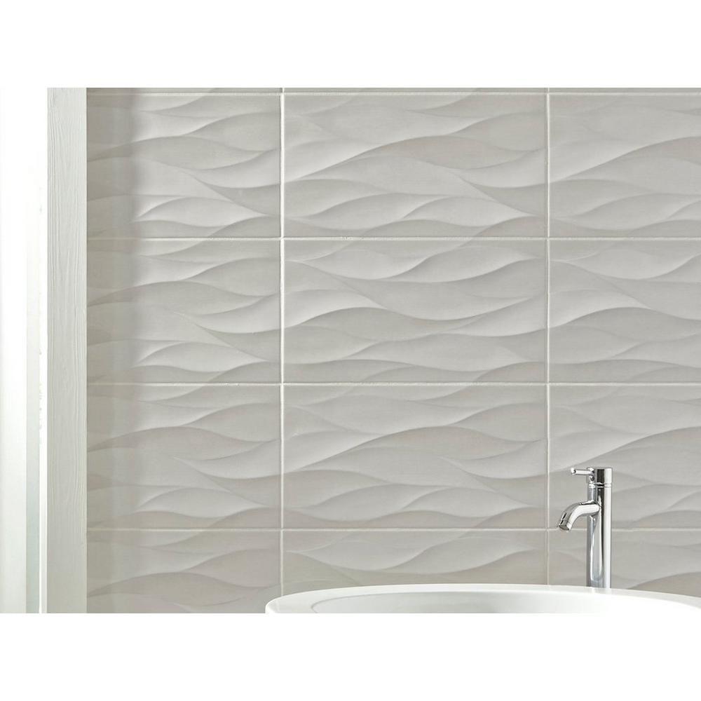 idole tear gray ceramic wall tile