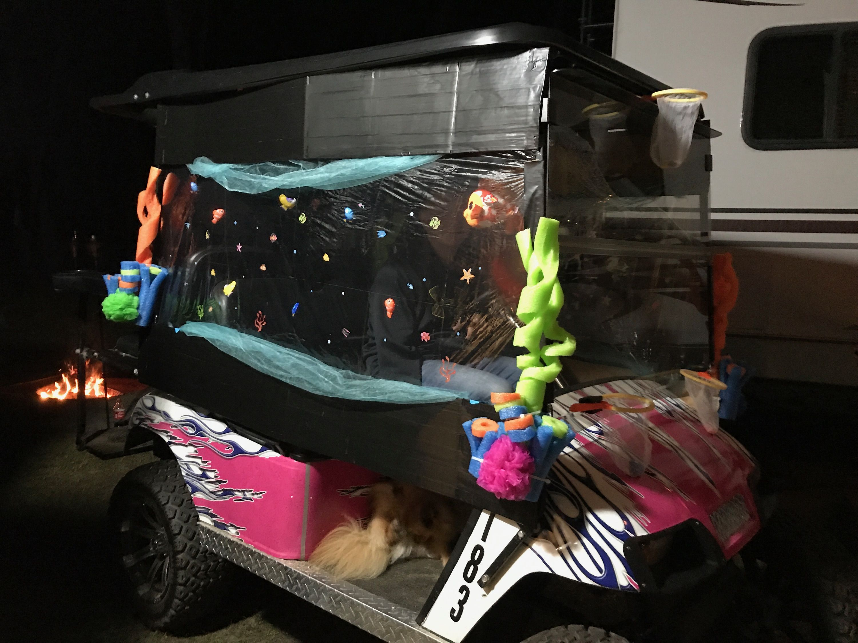 Fish tank golf cart Halloween Pinterest