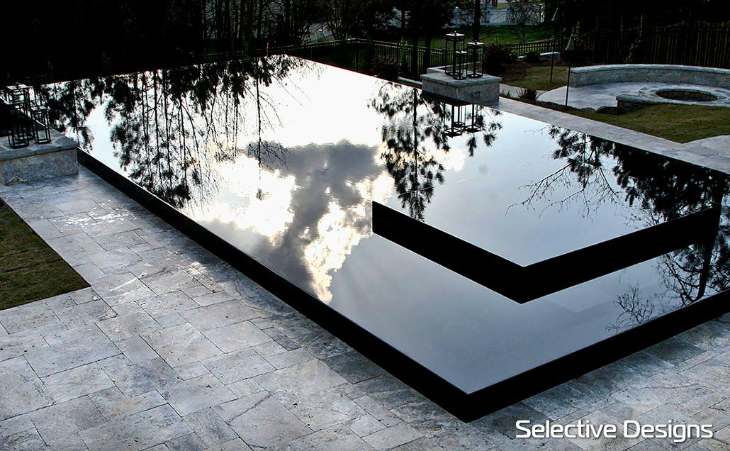 Jet Black edge of Pebble Tec Pebble Sheen | JARDIN PETITE MAISON ...