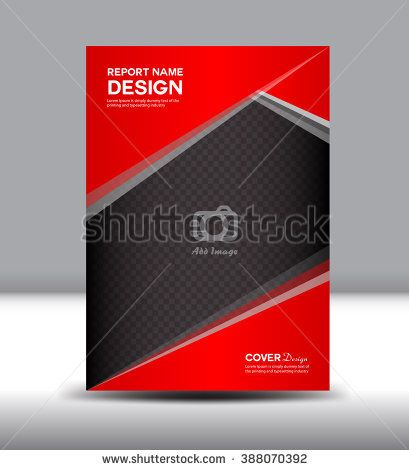 Red and black Cover Annual report, cover design, Brochure flyer - annual report cover template